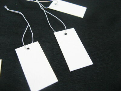 1000 Blank Label Tie Jewellry or Clothing Price Tags 4x2cm