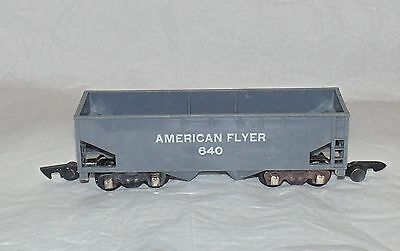 Vintage Gilbert American Flyer Train S Gauge GRAY HOPPER Coal/Freight Car 640