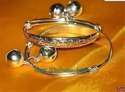 Wealth and good fortune,Auspicious baby's bracelet one pair