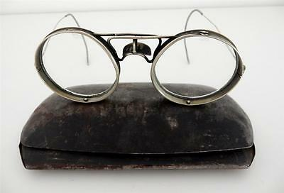 "Steampunk Antique 1800's Motorcycle ""Adjustaglas"" Eyeglasses in tin case"