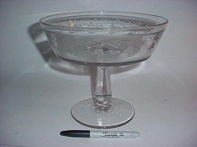 Hobbs Brockunier Large Compote, Acid Etched EAPG Glass