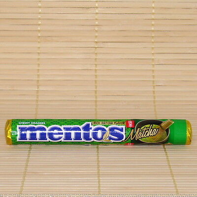 Japan MENTOS Rich GREEN TEA Matcha chewy candy 37.5 gram Japanese - 1 Roll