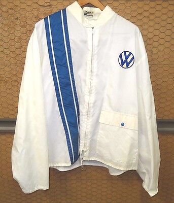 Vintage 1970s Anton Racing Apparel VW Volkswagen XL Nylon Lightweight Jacket