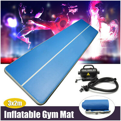 3x2 Inflatable Air Floor Tumbling Track Mat Gymnastics Cheerleading Gym Yoga Pad