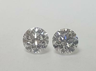 Matching Pair of 0.51 CTW, D-F Color, VVS Clarity Lab Grown Ideal Cut Diamonds