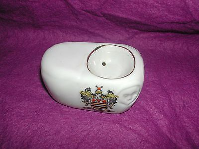 Goss Crested China Stockport Plague Stone. Blackpool