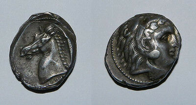 CARTHAGE. SICULO-PUNIC. 300-290 BC. Silver tetradrachm, VF, beautiful.