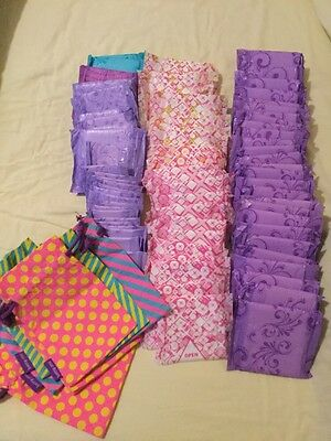 Job Lot 76x  Always Sanitary Towels Panty Liners And Carry Bags