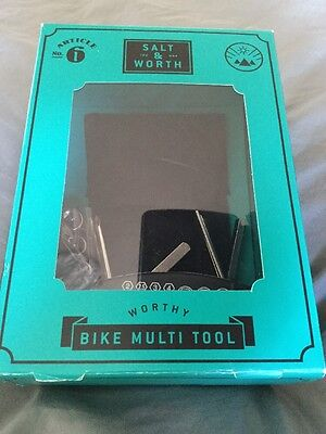 Salt & Worth Bike Multi Tool Including Puncture Repair Kit And Pouch Boxed