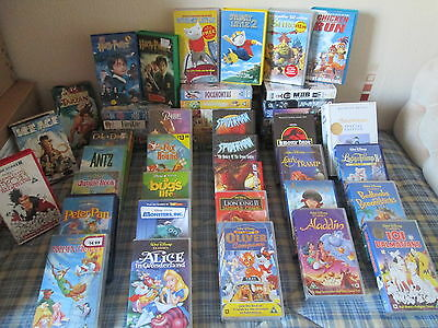 disney vhs video collection joblot (51 in total)