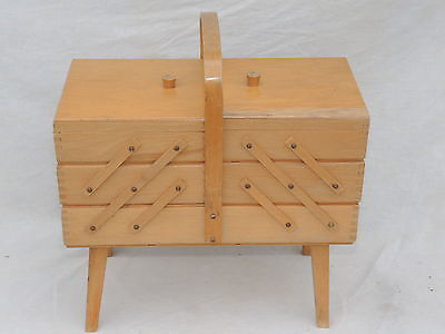 Wooden 3 Tier Cantilever Sewing/Storage Box