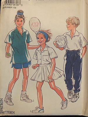 OOP NEW LOOK 6728 Childs/Boys/Girls Shirt Skirt Trousers Shorts PATTERN 9-14 UC
