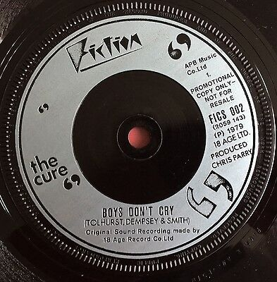 "THE CURE -Boys Don't Cry- Very Rare UK Promo only 7""  (Vinyl Record)"