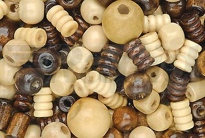 RVFM Assorted Wooden Beads - Tub of 200