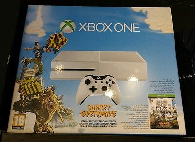 Console XBOX ONE blanche pack Sunset Overdrive 500go