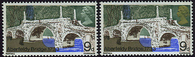 """SG 764a, 1968 Bridges 9d, superb u/m with """"Gold omitted"""" (with normal for compar"""
