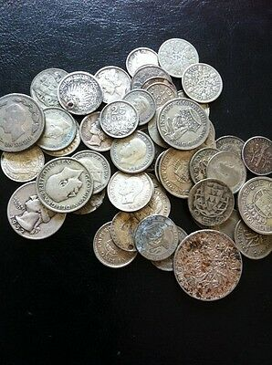 150 Grams Of Mixed World Silver. coins.