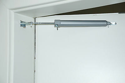 Mannesmann Pneumatic Door Closer <> White <> 100 Kg <> Adjustable GS EN TUV <>