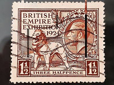 Great Britain GB 1924 Empire Exhibition Sc # 186 1 1/2d Used Stamp
