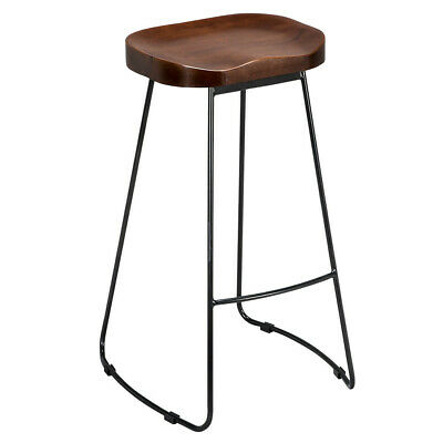 2X Metal Vintage Rustic Industrial Kitchen Pub Bar Stools Backless High Chair
