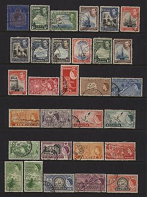 Bermuda Collection 30 KGVI / QEII Pre Decimal Values Used