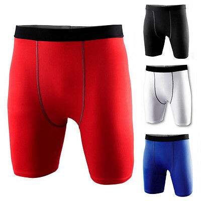 Mens Gym Sports Compression Armour Base Layer Shorts Running Under Skins Tights