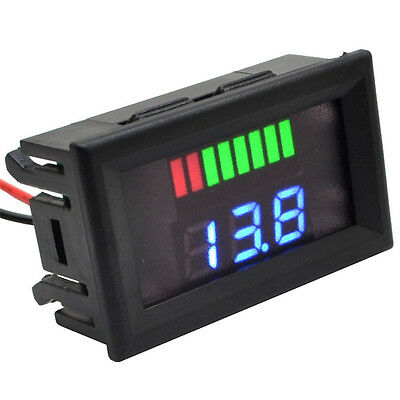 12V Lead-acid Battery Power Capacity Indicator  Blue Voltmeter Voltage Tester