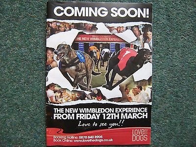 WIMBLEDON GREYHOUND MARCH 6th 2010 - Featuring £500 race for Photo finish Stakes