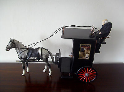 1/12Th Scale Ooak Handmade Horse Drawn Hansom Carriage--- By Chrischell