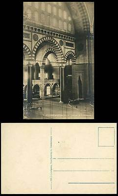Turkey Constantinople Old RP Postcard Interieur de la Sulemanie, Mosque Interior