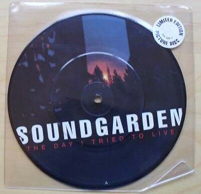 "Soundgarden Day I Tried To Live 7"" Pic Disc Limited Edition In Stickered Sleeve"