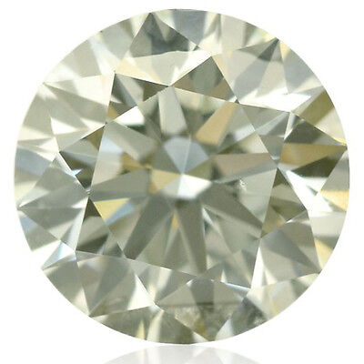 5.51 ct VVS1/11.95 mm OFF WHITE COLOR ROUND CUT LOOSE REAL MOISSANITE 4 RING