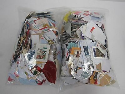 Unsorted 1KG charity kiloware used stamps (mixed - UK and foreign) WEY SC2