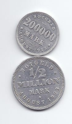 nswleipzig Hamburg 200.000 Mark 1923 und ½ Million Mark 1923