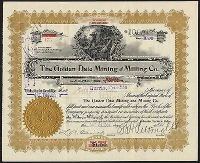 Colorado, Cripple Creek: Golden Dale Mining and Milling Co., 1901