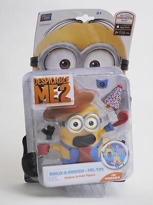 MINIONS Poseable Deluxe Action Figure Build-a-minion Mr Tim moustache toy NEW