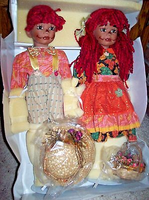 "PARADISE GALLERIES/KELLY RuBERT PORCELAIN AUTUMN  ""RAG TIME MARK & MISSY"" W/COA"