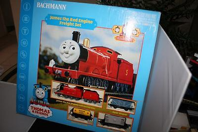 Bachman Thomas & Friends James The Red Engine Electric Freight Set Mint In Box