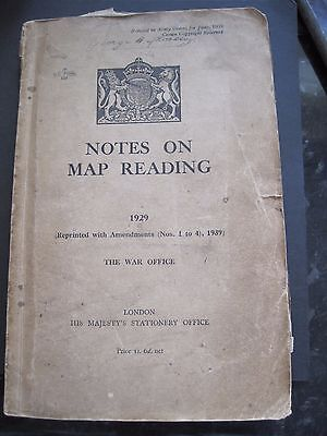 Ww2 Notes On Map Reading 1929 1939 Book With Maps + Army Ww2 Kit List