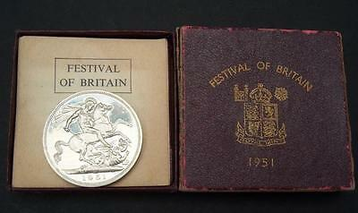 Great Britain 1951 George VI Crown Coin UNC in Maroon Box With Insert