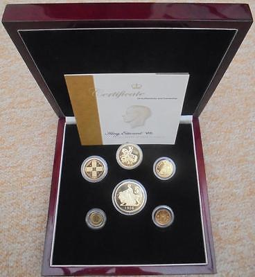 Edward VIII Gold Plated 1936 New Strike Silver Proof Pattern Coin Set (6) Cased