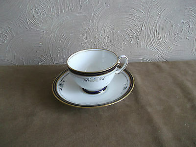 Aynsley Blue/white/gold Vintage Cup & Saucer