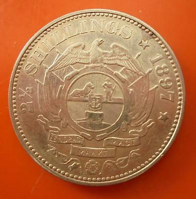South Africa 1897 Silver Half Crown Coin High Grade