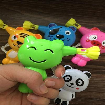 Kid Plastic Bubble Blaster Maker Blower Gun Toy With Different Animal Style WS
