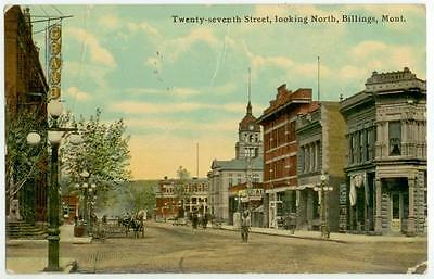 1912 Billings Montana Twenty-seventh Street, looking North - Grand Theatre