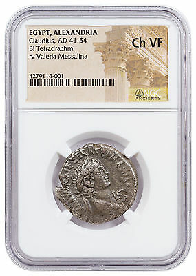 Egypt, Alexandria Bronze Tetradrachm of Claudius (AD 41-54) NGC Ch VF SKU47444