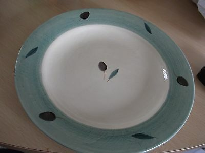 Poole Pottery Fresco Green Dinner  Plate In Vgc.