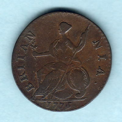 Great Britain. 1775 George 111 - Halfpenny..  Fine+