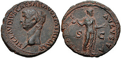 ROME. Claudius. AD 41-54. Æ As.  (28mm, 11.35g). Rome mint. VF.