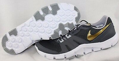 2fc7df7fcd29 NEW Mens NIKE Flex Show TR 4 807182 005 Grey Gold White Sneakers Shoes